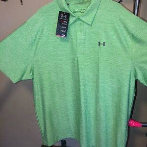 NWT Under Armour 2xl Lime green Polo shirt